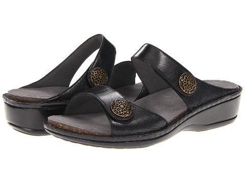 Aravon - Charlotte (Black Leather) Women's Sandals