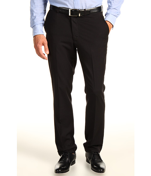 Perry Ellis - Slim Fit Solid Pant (Black) Men's Casual Pants