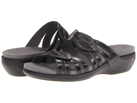 Aravon - Kendall (Black Leather) Women
