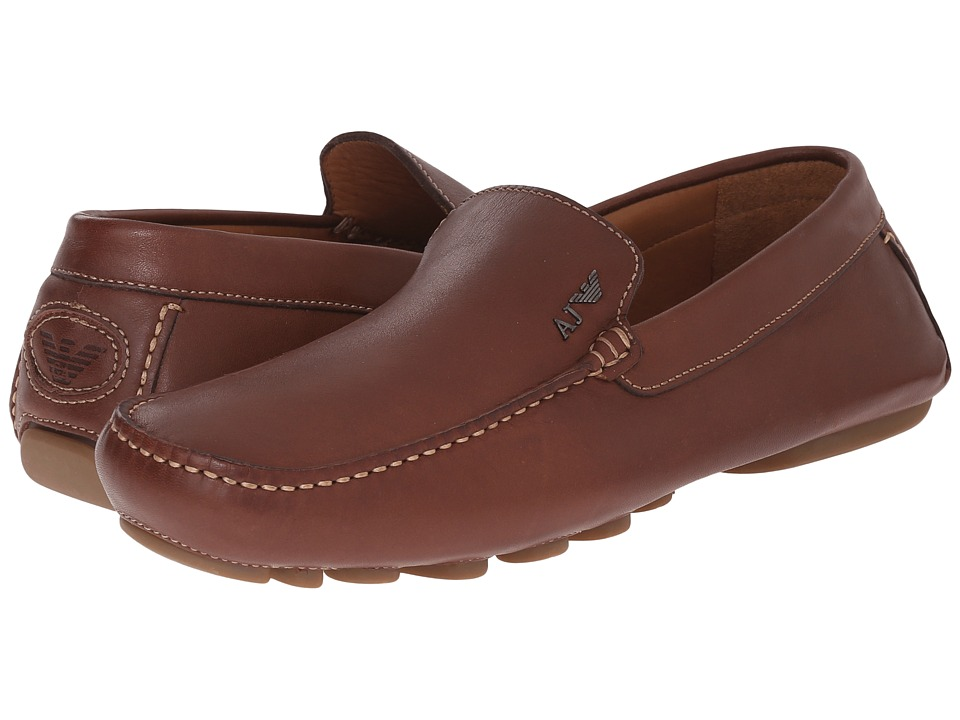 Armani Jeans - Loafer/Driver (Chestnut) Men's Shoes