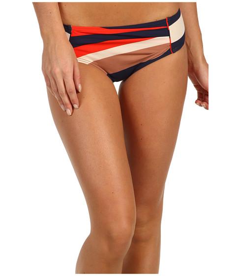 Marc by Marc Jacobs - Vintage Stripe Pleated Hipster Bottom (Ink Blue) Women's Swimwear