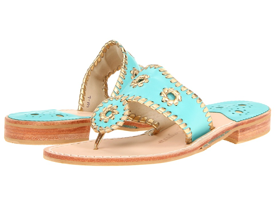 Jack Rogers - Nantucket Gold (Caribbean Blue/ Gold) Women's Sandals