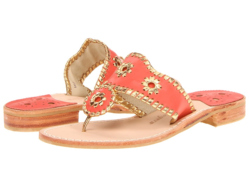 Jack Rogers - Nantucket Gold (Fire Coral/Gold) Women's Sandals