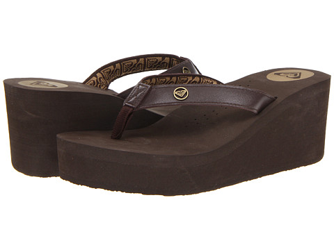 Roxy - Pagoda Leather II (Chocolate) Women's Sandals