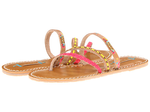 Roxy - Mardi Gras 2 (Tan/Crazy Pink) Women's Sandals
