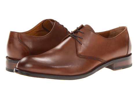 Johnston & Murphy - Hartley Plain Toe (Brown Calfskin) Men's Lace up casual Shoes