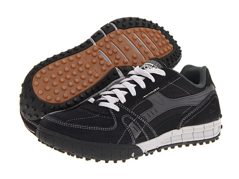 SKECHERS - Relaxed Fit - Floater (Black/Gray) Men
