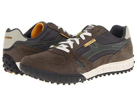 SKECHERS - Relaxed Fit - Floater (Olive/Black) Men's Shoes