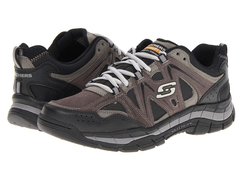 SKECHERS - Relaxed Fit Rig (Charcoal/Black) Men's Lace up casual Shoes