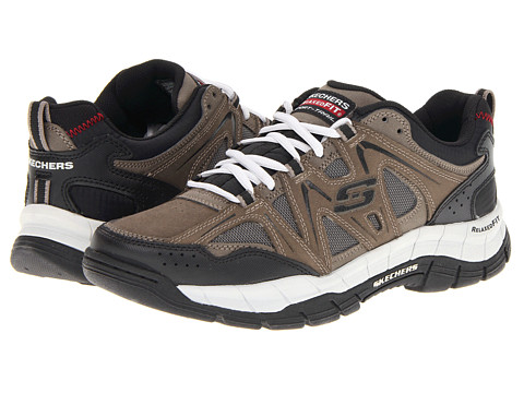 SKECHERS - Relaxed Fit Rig (Brown/Black) Men's Lace up casual Shoes