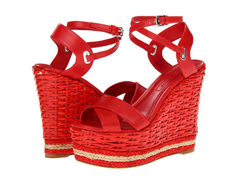 Ralph Lauren Collection Fitine (Red Baby Calf) Women's Wedge Shoes