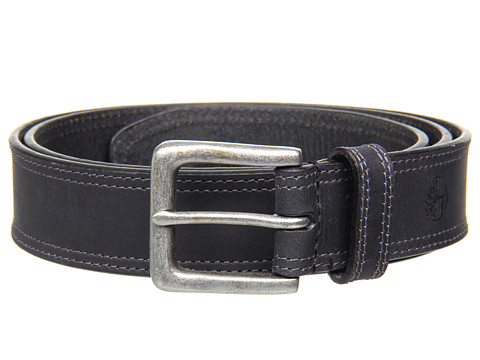 Timberland - Boot Leather Belt (Black) Men's Belts