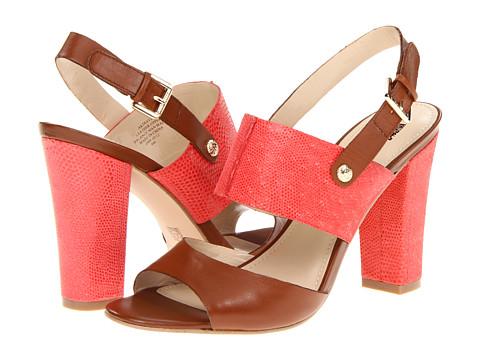 Anne Klein Traven (Cognac/Red Leather) Women's Dress Sandals