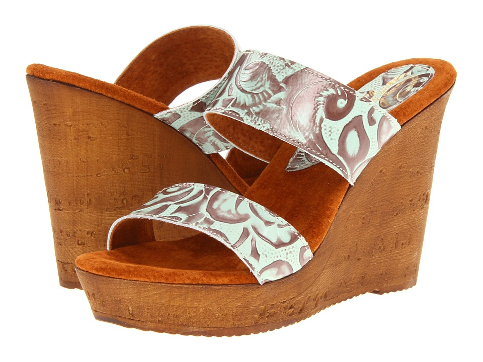 Sbicca - Credence (Turquoise) Women's Wedge Shoes