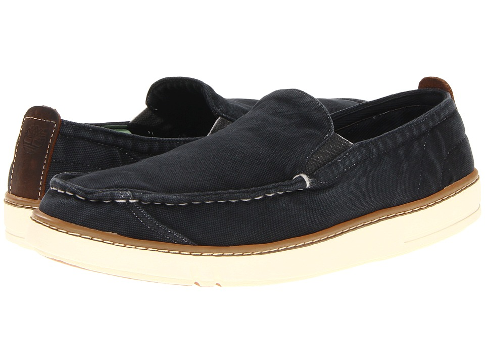Timberland - Earthkeepers Hookset Handcrafted Slip-On (Washed Black Canvas) Men