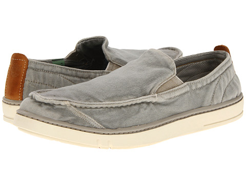 Timberland - Earthkeepers Hookset Handcrafted Slip-On (Washed Grey Canvas) Men