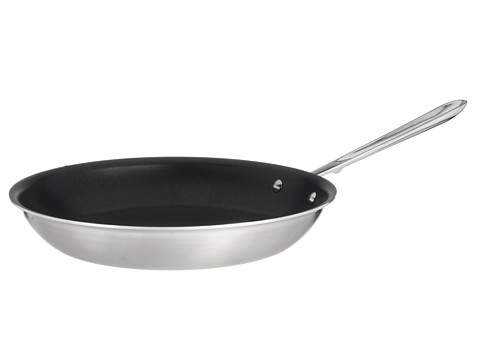 All-Clad - d5 12 Brushed Nonstick Fry Pan (Stainless Steel) Individual Pieces Cookware
