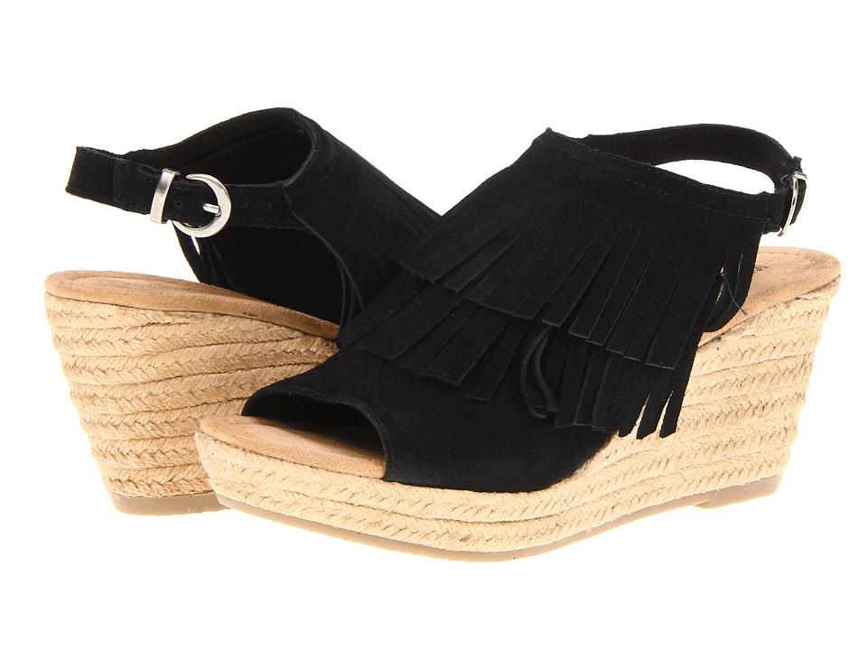 Minnetonka - Ashley (Black Suede) Women's Wedge Shoes