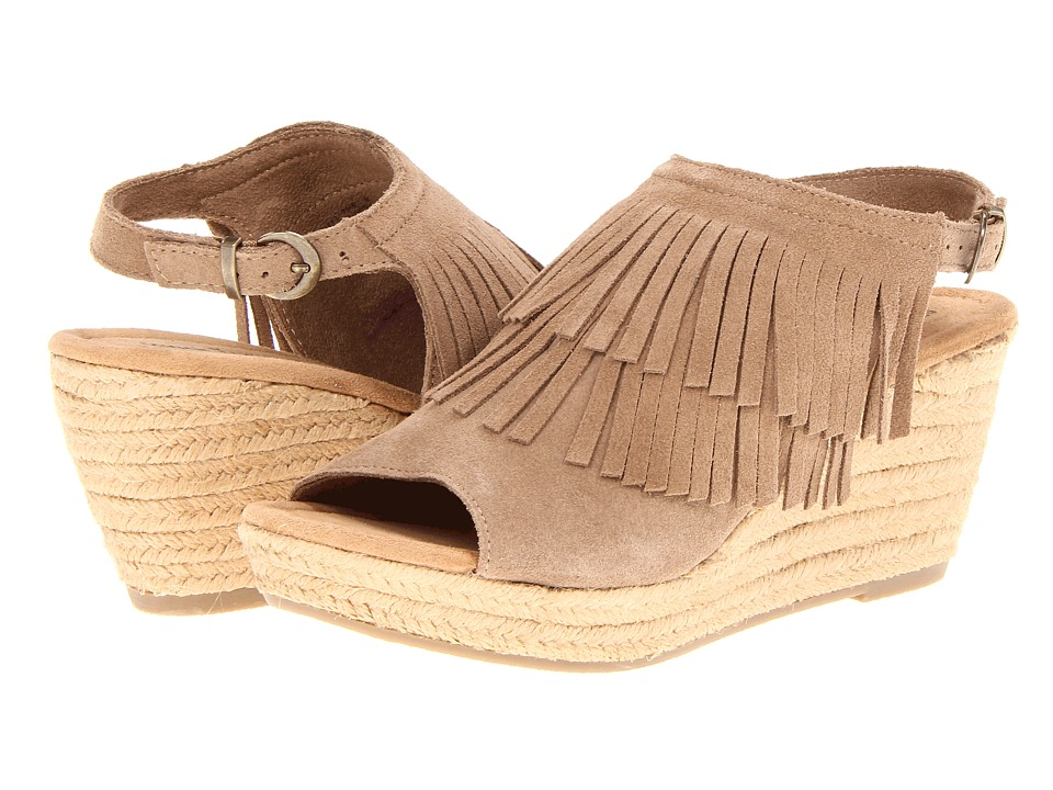 Minnetonka - Ashley (Taupe Suede) Women's Wedge Shoes