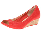 Cole Haan - Air Tali OT Wedge 40 (Cherry Tomato Glisten Nubuck) - Cole Haan Shoes