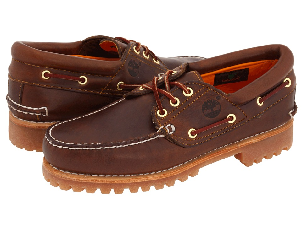 Timberland - Traditional Handsewn 3-Eyelet Classic Lug (Brown Pull-Up) Men's Shoes