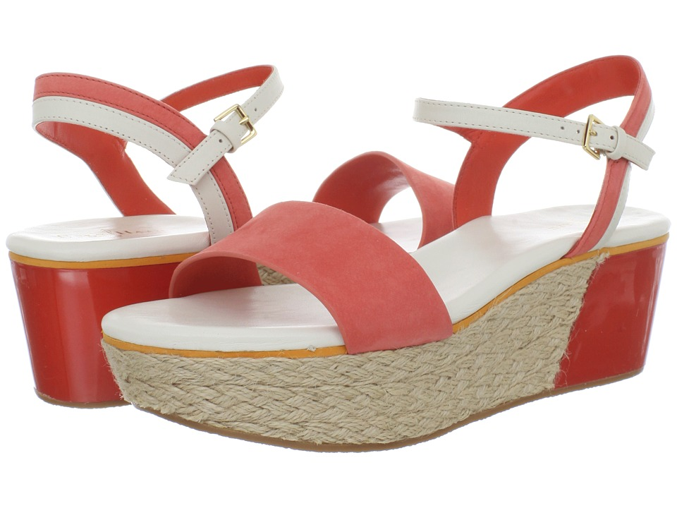 Cole Haan - Arden Wedge (Orange Pop Nubuck) Women's Sandals