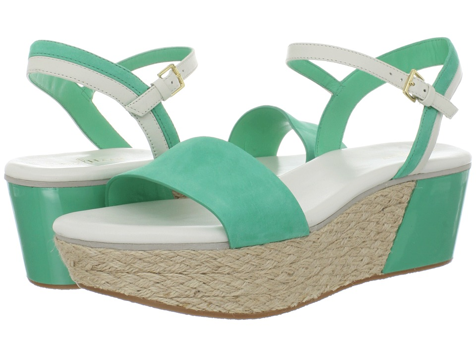 Cole Haan - Arden Wedge (Green Thumb Nubuck) Women's Sandals