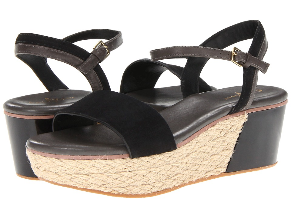 Cole Haan - Arden Wedge (Black Nubuck) Women's Sandals