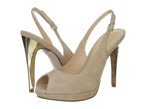 Cole Haan - Chelsea OT HI Sling (Sandstone Suede) Women's Sling Back Shoes
