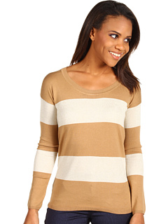 SALE! $39.99 - Save $59 on Anne Klein Stripe Pullover (Porcelain Brown Sugar Combo) Apparel - 59.61% OFF $99.00