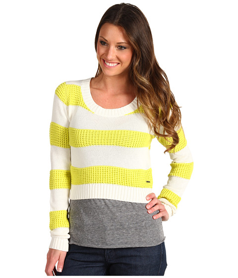 Roxy - Newest Leaf Sweater (Acid Yellow) Women