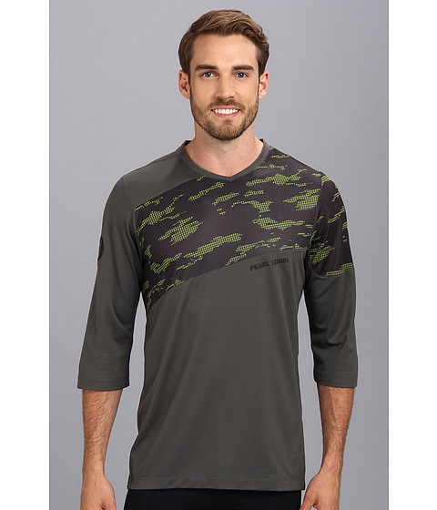 Pearl Izumi - Launch 3/4 Sleeve Jersey (Shadow Grey/Black Hex) Men