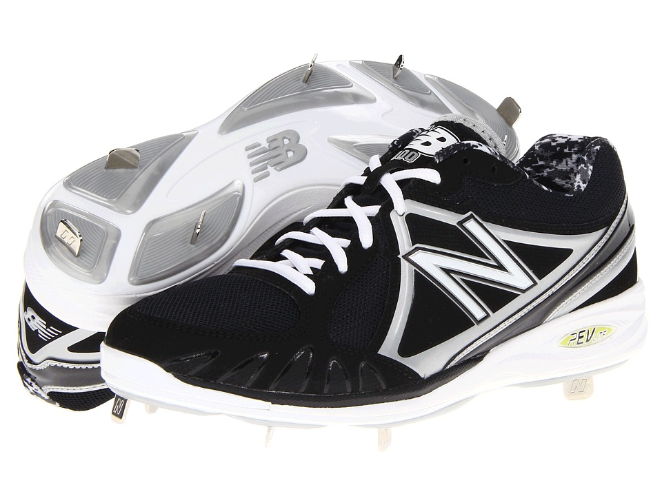 New Balance - MB3000 Metal Low-Cut Cleat (Black/Silver) Men's Cleated Shoes