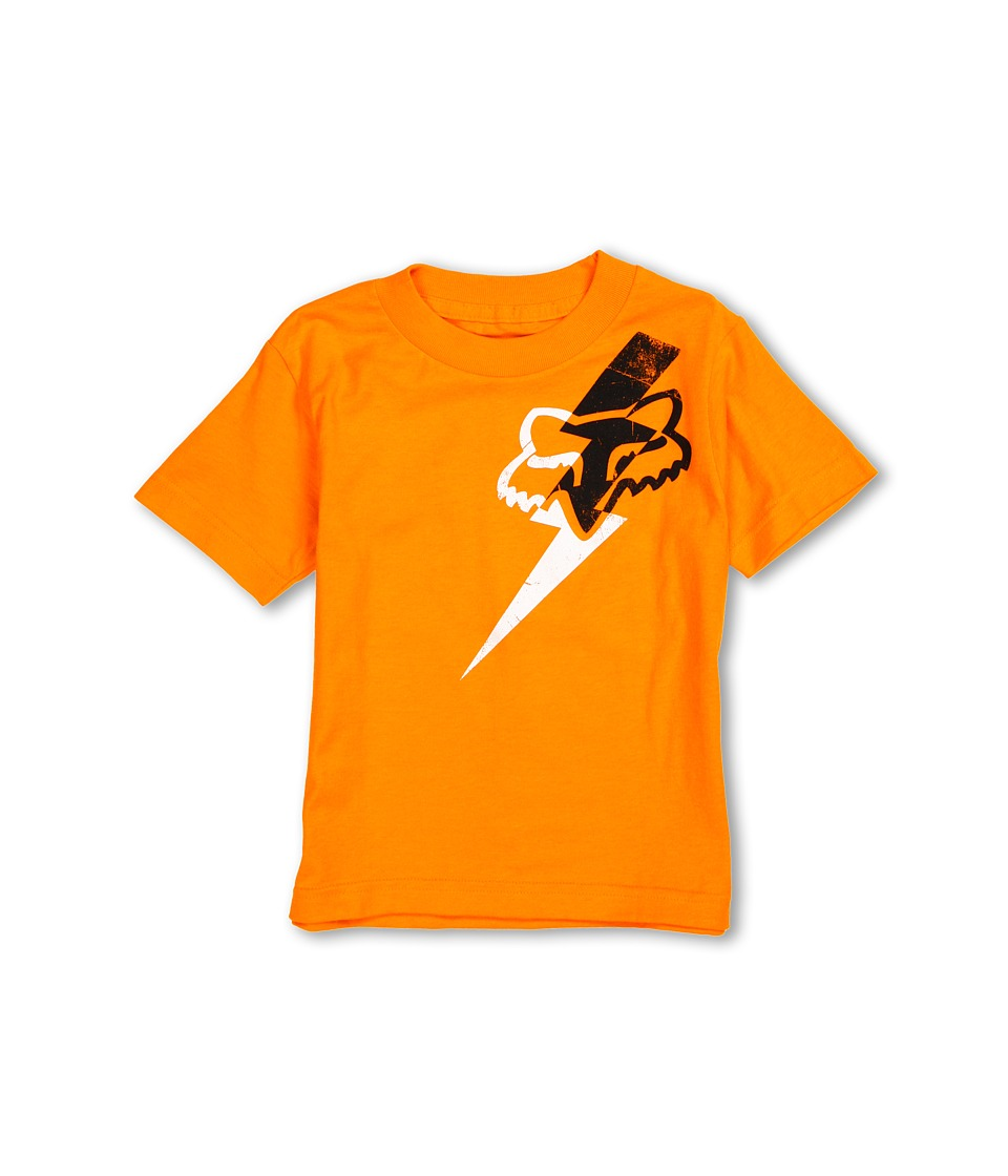 Fox Kids - Pitmann S/S Tee (Little Kids) (Day Glo Orange) Boy
