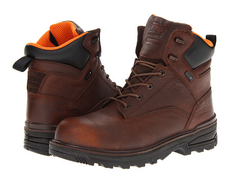Timberland PRO - Resistor 6 WP Composite Toe (Brown) Men's Work Boots