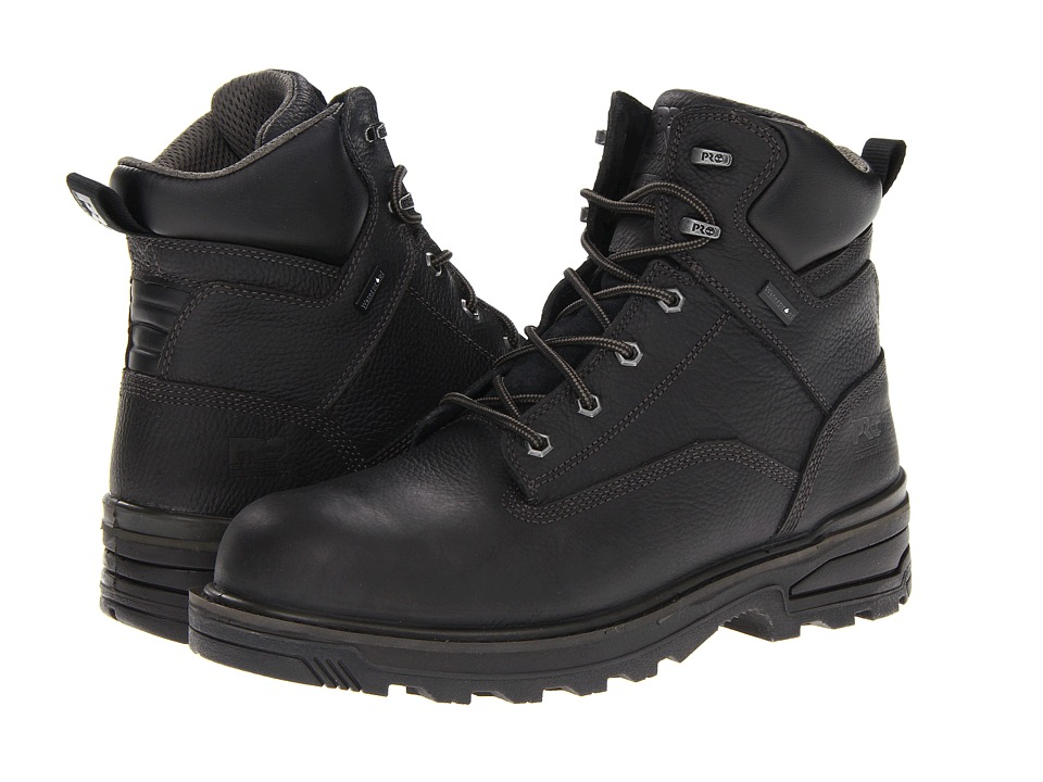 Timberland PRO - Resistor 6 WP Composite Toe (Black) Men's Work Boots