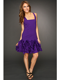 SALE! $69.99 - Save $625 on Robert Rodriguez Fit and Flare Ruffle Dress (Violet) Apparel - 89.93% OFF $695.00