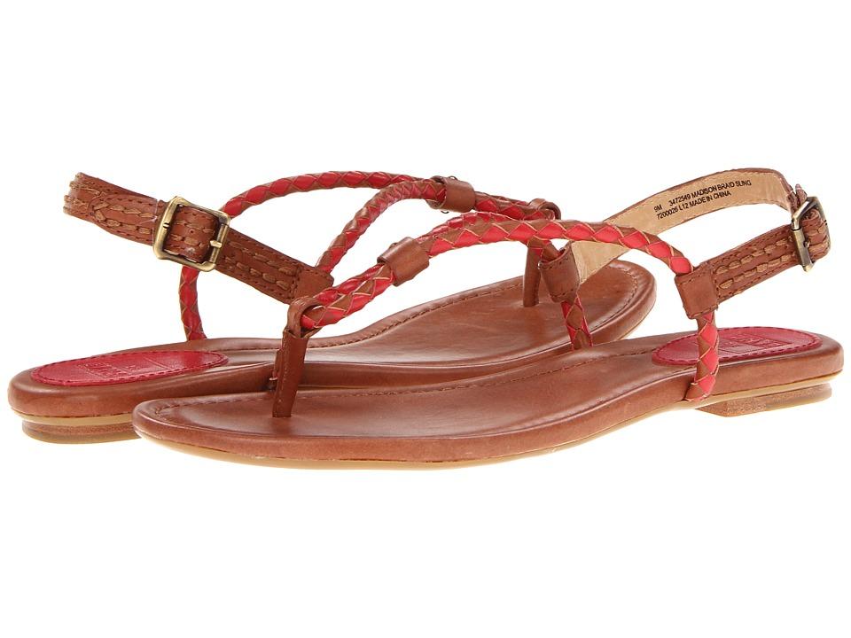 Frye - Madison Braid Sling (Burnt Red Veg Tan) Women's Sandals
