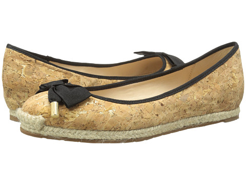 Kate Spade New York - Valerie (Natural Gold Fleck Cork/Black Grosgrain) Women's Shoes
