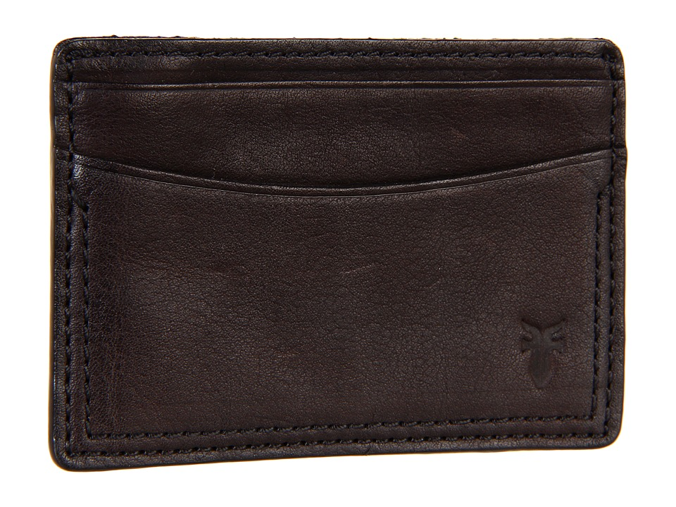 Frye - James Card (Dark Brown Tumbled Full Grain) Credit card Wallet