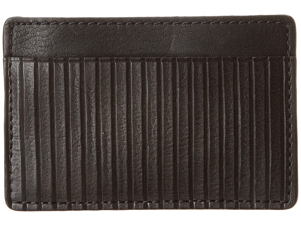 Frye - James Card (Black Veg Cut Leather) Credit card Wallet
