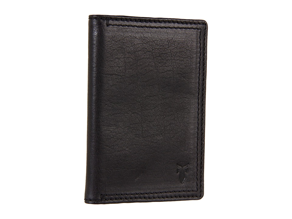 Frye - James Wallet Small (Black Tumbled Full Grain) Wallet Handbags