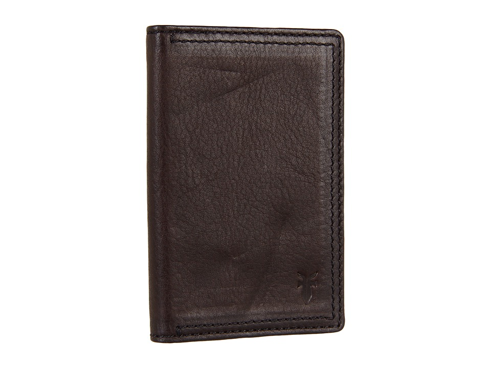 Frye - James Wallet Small (Dark Brown Tumbled Full Grain) Wallet Handbags