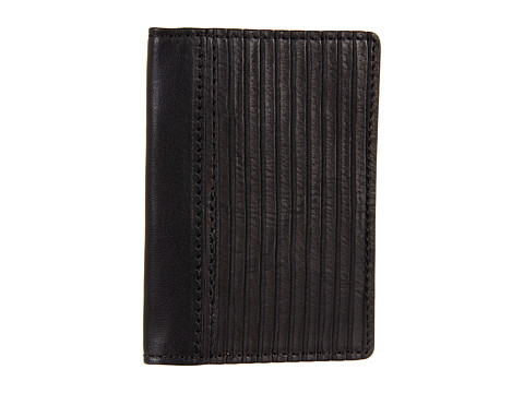 Frye - James Wallet Small (Black Veg Cut Leather) Wallet Handbags