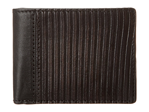 Frye - James Wallet (Black Veg Cut Leather) Wallet Handbags