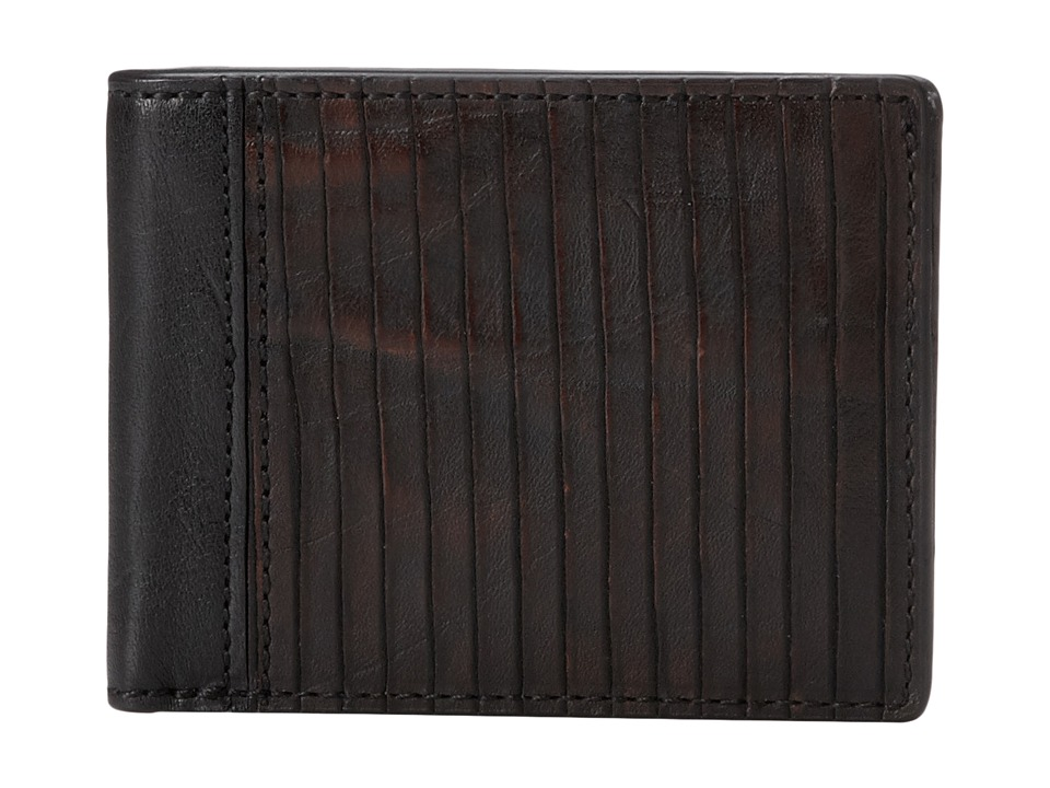 Frye - James Wallet (Dark Brown Veg Cut Leather) Wallet Handbags