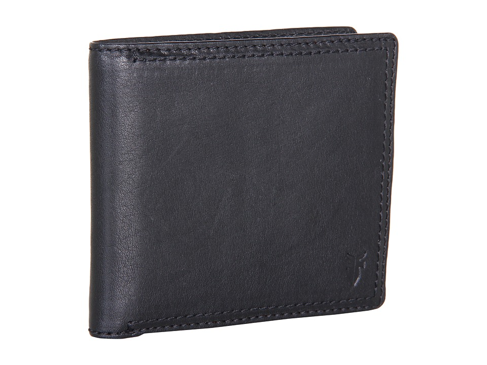 Frye - James Wallet (Black Tumbled Full Grain) Wallet Handbags