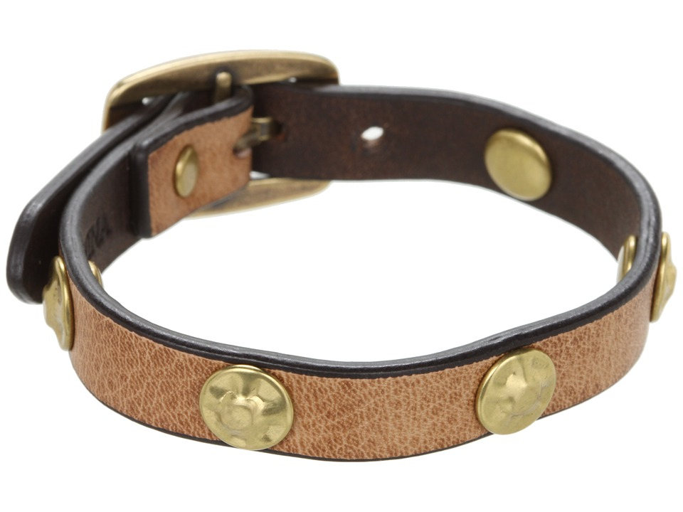 Frye - Stud Wrap Cuff (Beige Soft Vintage Leather) Bracelet