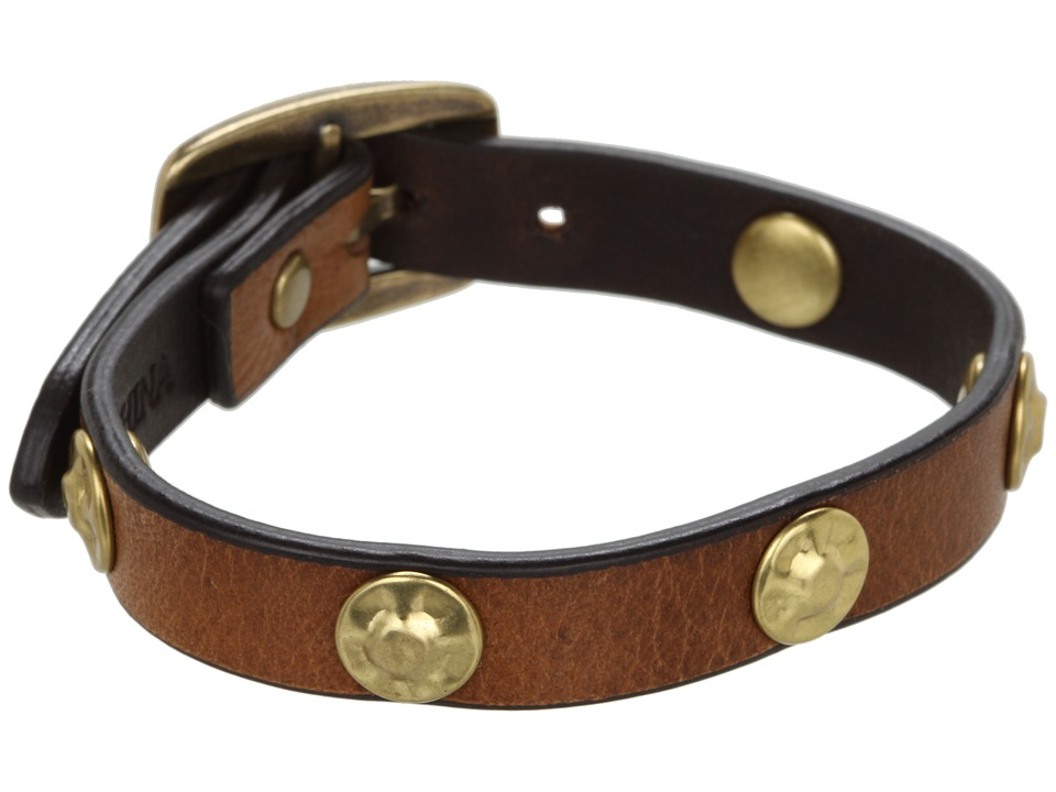 Frye - Stud Wrap Cuff (Camel Soft Vintage Leather) Bracelet