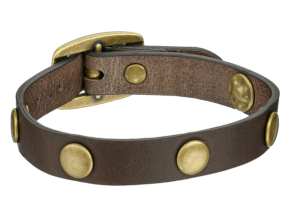 Frye - Stud Wrap Cuff (Grey Soft Vintage Leather) Bracelet